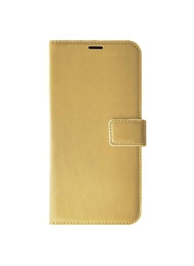 Microsonic Huawei Honor 8A Kılıf Delux Leather Wallet Gold Altın
